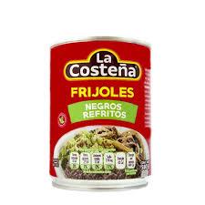 FRIJOLES NEGROS REFRITOS 560G LA COSTEÑA