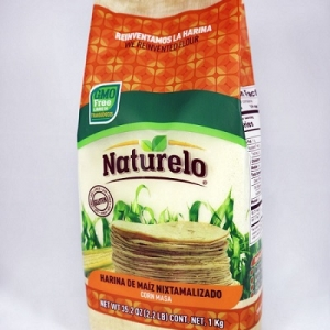 Harina maíz blanca Naturelo