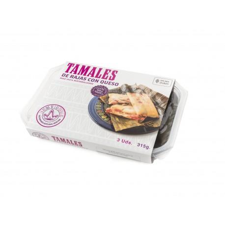 tamales de queso con rajas 3 unidades