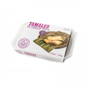 tamales de tinga de pollo 3 unidades