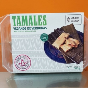Tamales Veganos bandeja 3 uds