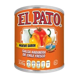 Salsa chile Habanero el pato 225g