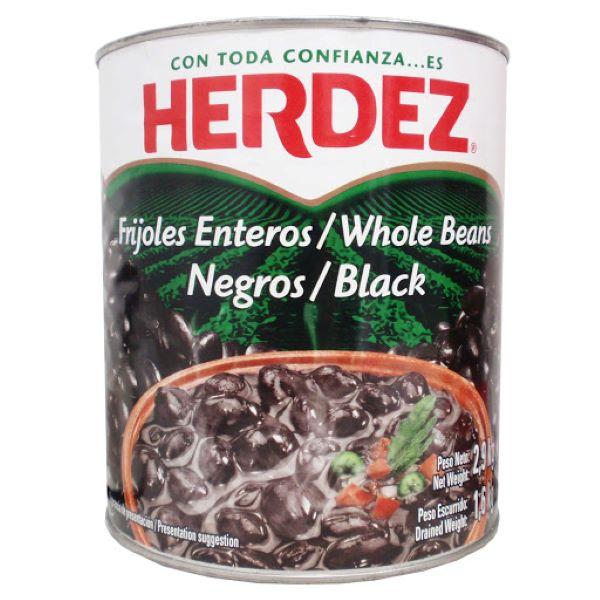 frijoles enteros negros herdez 2.9Kg